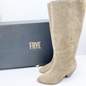 NIB Frye Lila Slouch Tan Suede Boots 7.5